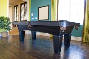 Turn your pool table into a dining table to save space.