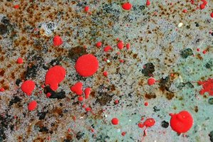 Paint splatter can land on surfaces.