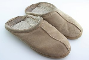 Shearling slippers should only be dry cleaned or washed by hand.