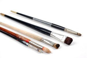 A painter's brushes are among the most common artist tools.