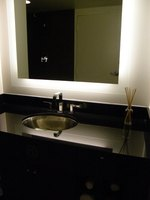 Remodel a bathroom vanity with a simple paint process