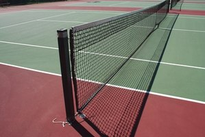 Regular cleaning extends the life of a tennis court.