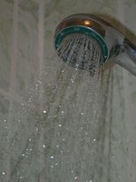 Clean shower faucets regularly to remove buildup and minerals.