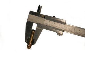 Vernier calipers can measure an object's exact size.