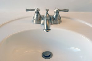 Unclog your sink at the first sign of a problem to prevent the clog from worsening.