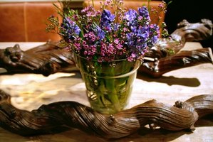 Accent your table with a rustic centerpiece.