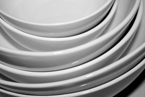 Stack of clean dishes
