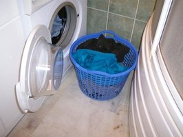 Always leave your laundry basket close to or on top of the machine you're using.