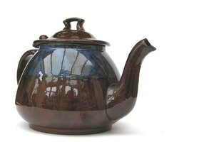 Brewing tea in a teapot makes it easy to pour.