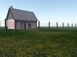 A custom home and yard are the result of raw land development.