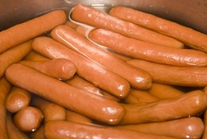 Traditional Chicago-style hot dogs are assembled with all-beef hot dogs.