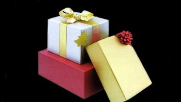 Gift certificates can be placed in boxes and given as a present.