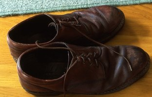 Paint is a great way to spruce up your old leather shoes.