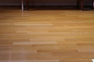 Laminated flooring is constructed of multiple layers, like plywood.