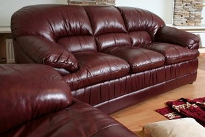 This is a classic example of a contemporary leather sofa.