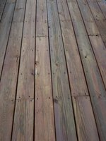 Properly installed wood decking will last for years.