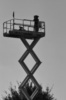 Aerial lift baskets or man-baskets are used to reach high places in order to perform work.