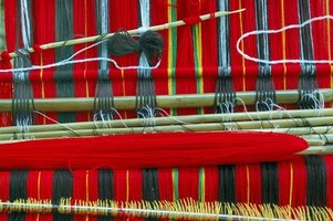 Weaving looms come in many styles and sizes.