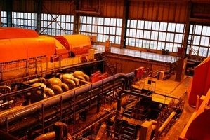 Steam turbines produce power efficiently.