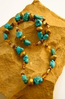 Turquoise has been mined for jewelry and decoration for thousands of years.