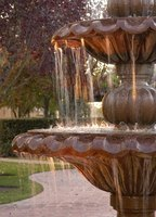 Use solar power to keep your fountain flowing.