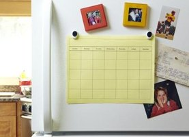 Keep a calendar handy to help you organize your life.
