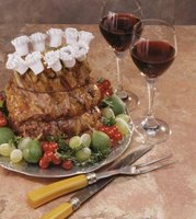 A Christmas buffet can feature a standing rib roast.