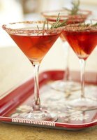 Red martinis garnished and ready to drink.