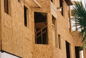 OSB is commonly used for many construction applications.