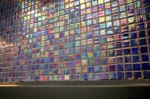 glass mosaic tiles showing a wide range of available colors