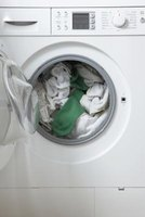 A front-loading washing machine uses less water than a top-loading machine.