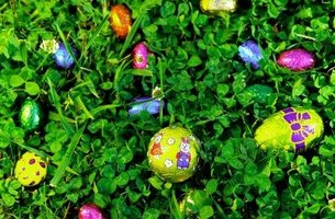 Easter egg hunts are the premier event at most church Easter parties.