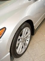 A tire's diameter can be calculated from the size of the tire.