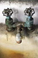A corroded faucet can easily be loosened to repair or replace.