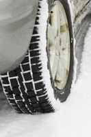 Some tires are specifically designed for driving on snow and ice.