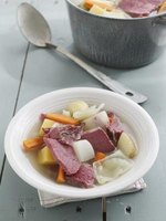 Corned beef and cabbage makes a hearty meal.