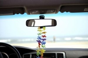 Rearview mirror adhesive is strong enough to withstand the heat of the sun.