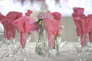 Centerpieces help set the theme of your wedding reception.