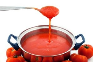 Foods such as tomato sauce contain high levels of acidity.