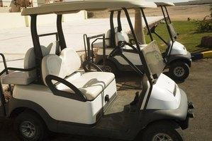 There are many different types of golf carts.