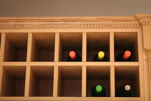 How to make a wine rack for a small cabinet ehow for How to build a wine rack in a cabinet