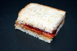 Peanut butter and jelly sandwiches are a nutritious choice for school lunches.