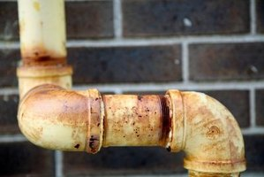 Metal pipes can rust over time, and eventually need replacing.