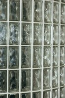 Glass block wall showing even spacing.