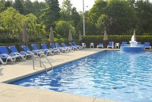 Bacteria counts in a swimming pool must fall below a certain standard for the pool water to be considered sanitary.