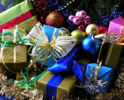 Christmas tree skirts provide an elegant background for your presents.