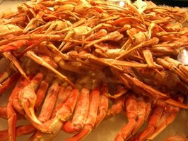 Alaskan king crab legs are a seafood delicacy.