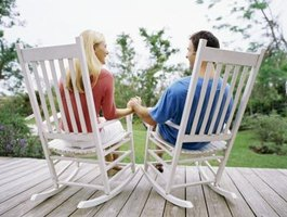 The first rocking chairs were used on lawns and porches.