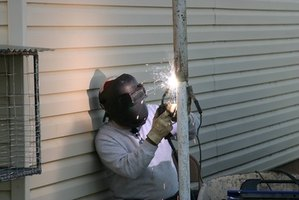 Outdoor welding projects sometimes require power from a generator.