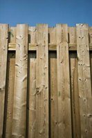 A shadow board fence makes an attractive addition to the landscape.